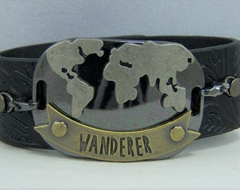 B231, Leather Cuff Bracelet