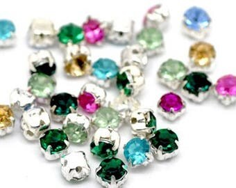 50 mixed Crystal beads