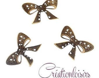 10 prints embellishment metalic bow Decoration