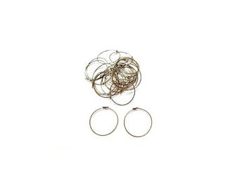 10 rings for glass wine or 25 mm bronze earring