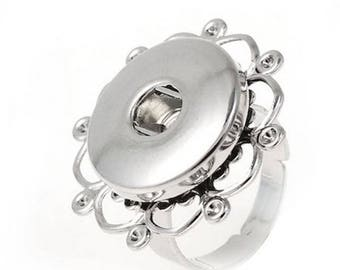 Appropriate snap button rings with 18mm / 20mm snap button adjustable flower petal
