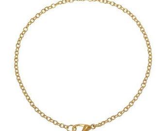 6 Golden fine 19 cm chain bracelets