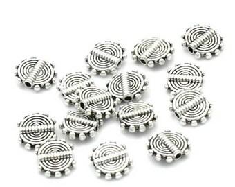 20 pearls tab design silverplate spiral