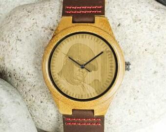 Biggie Smalls, Notorious BIG, Biggie, Biggie Smalls Gift, Biggie Fan, Biggie Smalls Fan, Biggie Small Engraved Wooden Watch