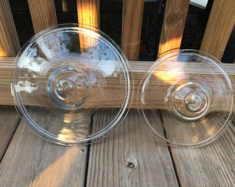 Vintage Fire King Philbe Clear and Blue Sapphire Replacement Casserole Lids