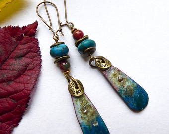 The bottom of the sea treasures earrings
