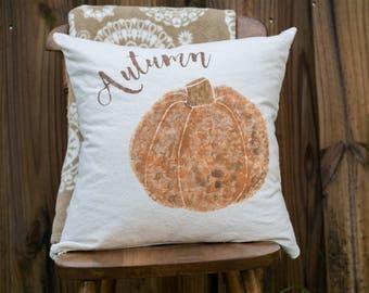"""Autumn Pumpkin - pillow cover (18""""x18"""")"""