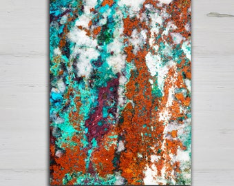 NEW Abstract Rock Art Canvas Print, 20x30 or 32x48 Gallery Wrap 'Sedona'