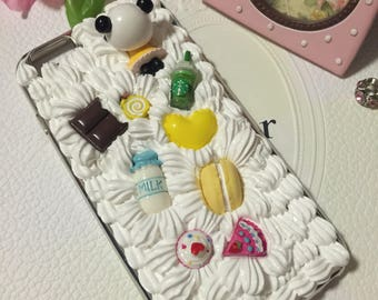 Cute Panda DIY whipped cream Decoden case Good quality- iPhone 6plus and 6s Plus