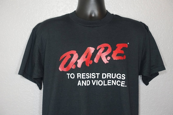 90's D.A.R.E. To Resist Drugs And Violence Vintage T-Shirt