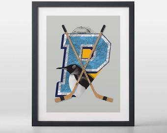 Pittsburgh Penguins-inspired Hockey Art Print