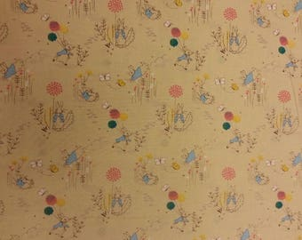 Peter Rabbit Jumping Wild Beatrix Potter Fabric 100% Cotton Material By Metre Curtains Patchwork Cushions Bags Bunting