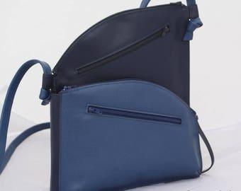 """""""Luna"""" red leather Sling bag"""