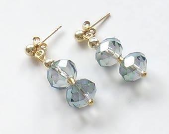 Blue Irrisierend Earrings Blue earrings Sparkling earrings