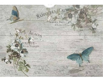 1 sheet of 21 x 28 cm old ACACIA 1185 collage decoupage rice paper