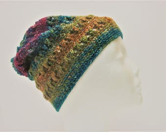 Stylish and Hip Multicolor Criss-Cross Slouchy Winter Hat (A18)