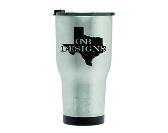 New Style 20oz Custom Laser Engraved RTIC Tumbler | Personalized RTIC Stainless Steel Cup | Laser Engraved RTIC Tumbler | Similar to Yeti