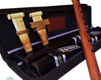Professional Armenian DUDUK Apricot Wood Armenian Oboe Balaban Woodwind Instrument -Key a duduk with leather case - Playing Instruction