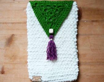 Crochet E Book Case - Slipcover - wallet handmade doily