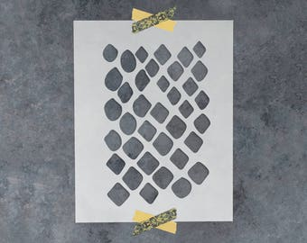 Snakeskin Stencil - Reusable DIY Craft Stencils of a Snakeskin Pattern