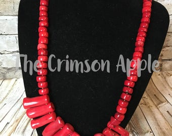 Coral Brass necklace