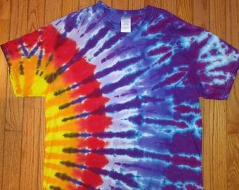 L Sun blast tie dye t-shirt