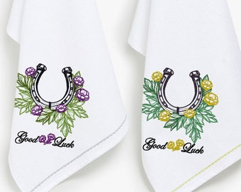 Horseshoe machine embroidery design - 8 sizes