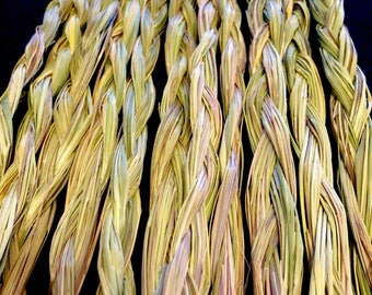Sweetgrass Braid - Native American - Smudging - Ceremonial Sweetgrass - Traditional Native American - Organic Sweetgrass - Wild Grown