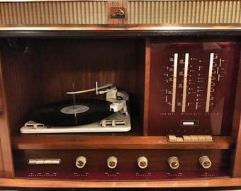 Retro Vintage HMV Record Player Cabinet