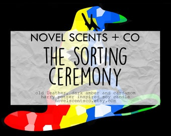 The Sorting Ceremony - Harry Potter inspired soy candle (9oz jar)