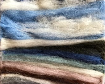 Pwllheli Beach - Merino Wool - Artwork - Needle Art - Felt - Fibre Art - Mini - Picture - Landscape