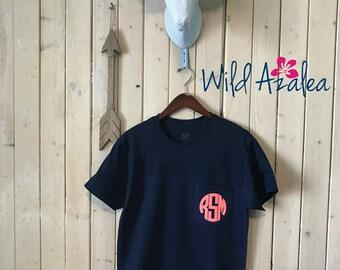 Glitter Monogrammed Pocket T-Shirt