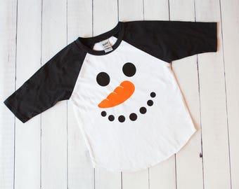 Snowman shirt, Christmas Shirt, Sibling shirts