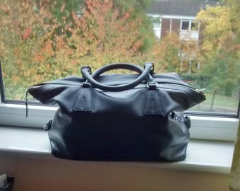Small classic holdall Soft grained leather