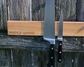 Magnetic Knife Rack. Wooden Knife Rack.