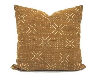 Mudcloth pillow cover, various sizes camel mudcloth pillow, mudcloth pillow cover, african mudcloth pillow, mudcloth