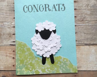 Congrats Sheep Card