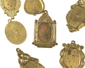 Vintage Rosary Pendant Medals Charms // Rosary Findings