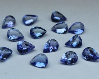 AAA Quality Natural Tanzanite Pear faceted