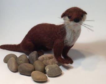 Felted Otter.