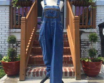 Vintage Jordache Jean Overalls with Corduroy Detail