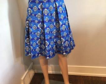 Ankara midi skirt, African Print Skirt, High Waist Skirt, African Skirt, Printed Skirt