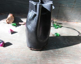 Black medieval pixie bag, coin purse