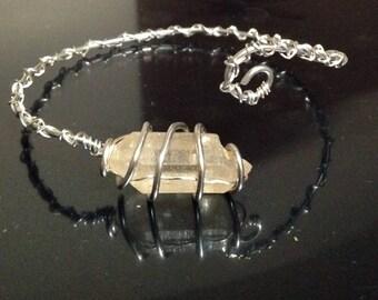 Double Terminated Quartz Crystal bracelet