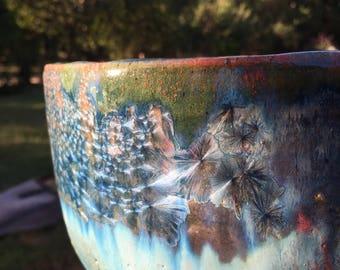 Crystalline Glazed Bowl