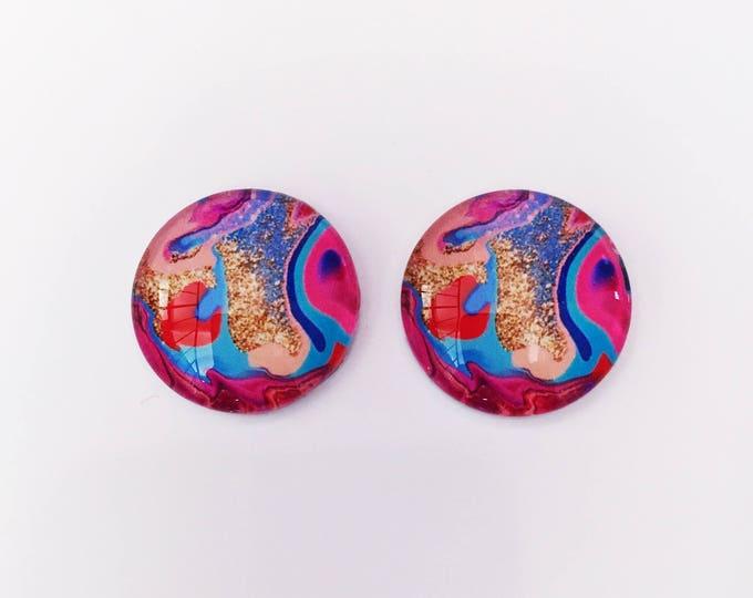 The 'Rachel' Glass Earring Studs