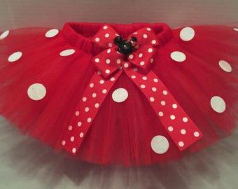 MINNIE MOUSE TUTU, Red Minnie Mouse Tutu,  Minnie Tutu, Minnie Mouse Skirt, Red Minnie Tutu, Red Tutu, Minnie Birthday Tutu, Minnie Costume