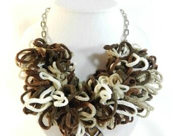 """Diva"" designer necklace, unique lace pendant, handmade"