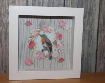 Robin - decorative embossed frame