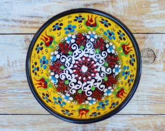Bowl, yellow bowl, pottery bowl, small pottery, decorative bowl, ceramics, yellow dish, handmade bowl, small bowl, pottery, handmade pottery